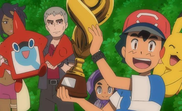 Luego de 20 años Ash logra coronarse campeón de la liga Pokémon