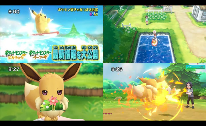 El programa japonés Pokenchi presentó novedades sobre Pokémon Let's Go