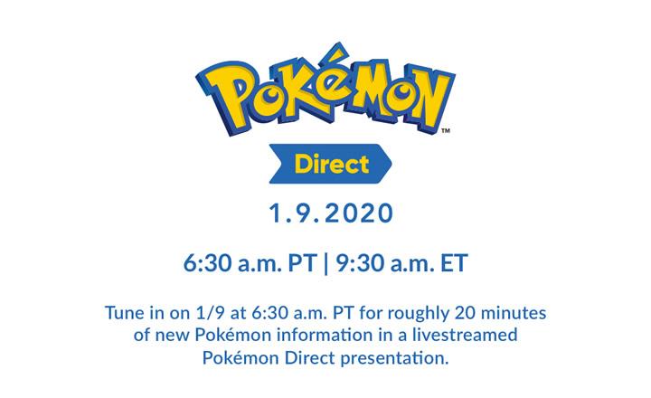 Anunciado un Pokémon Direct para el jueves 9 de enero