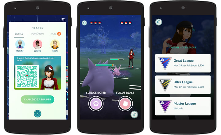 Ya disponibles los combates entre entrenadores de Pokémon GO