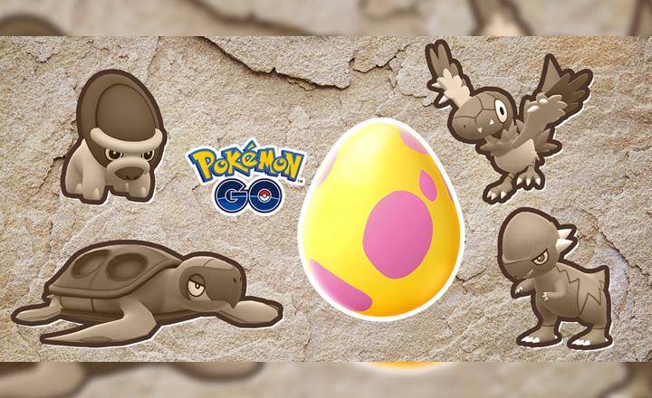 Los Pokémon fósiles ahora disponibles al eclosionar huevos en Pokémon GO