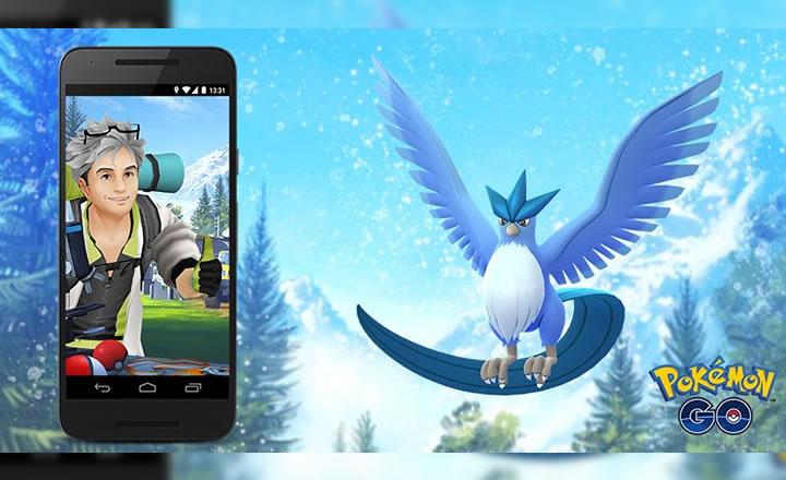 Articuno disponible en las Investigaciones de Pokémon GO de Junio