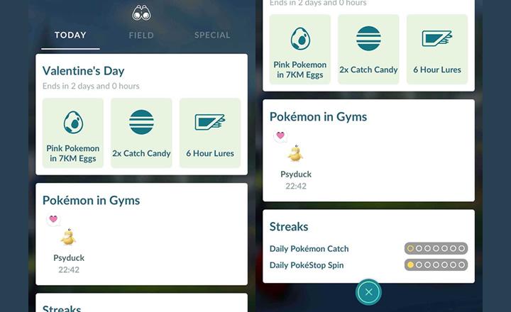 Pokémon GO se actualizará sumando la vista Hoy