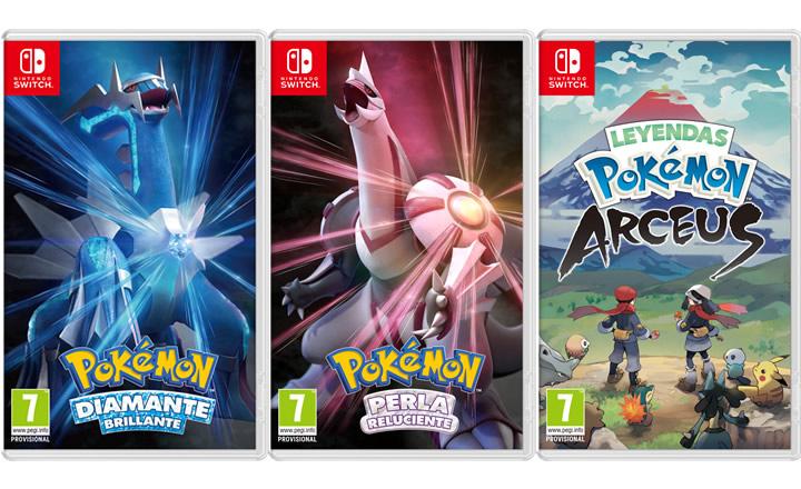 Confirmada la fecha de lanzamiento de Pokémon Diamante Brillante, Pokémon Perla Reluciente y Leyendas Pokémon: Arceus