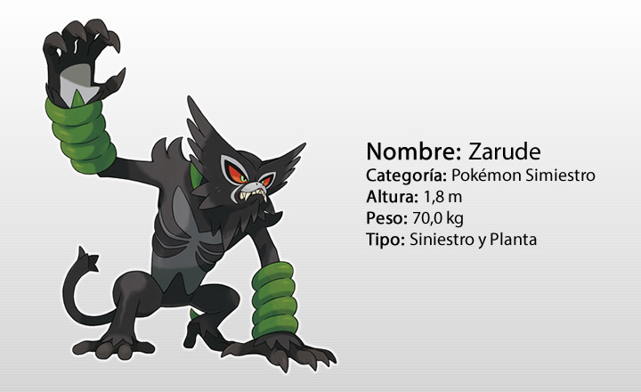 Conoce a Zarude, el nuevo Pokémon singular en Espada y Escudo